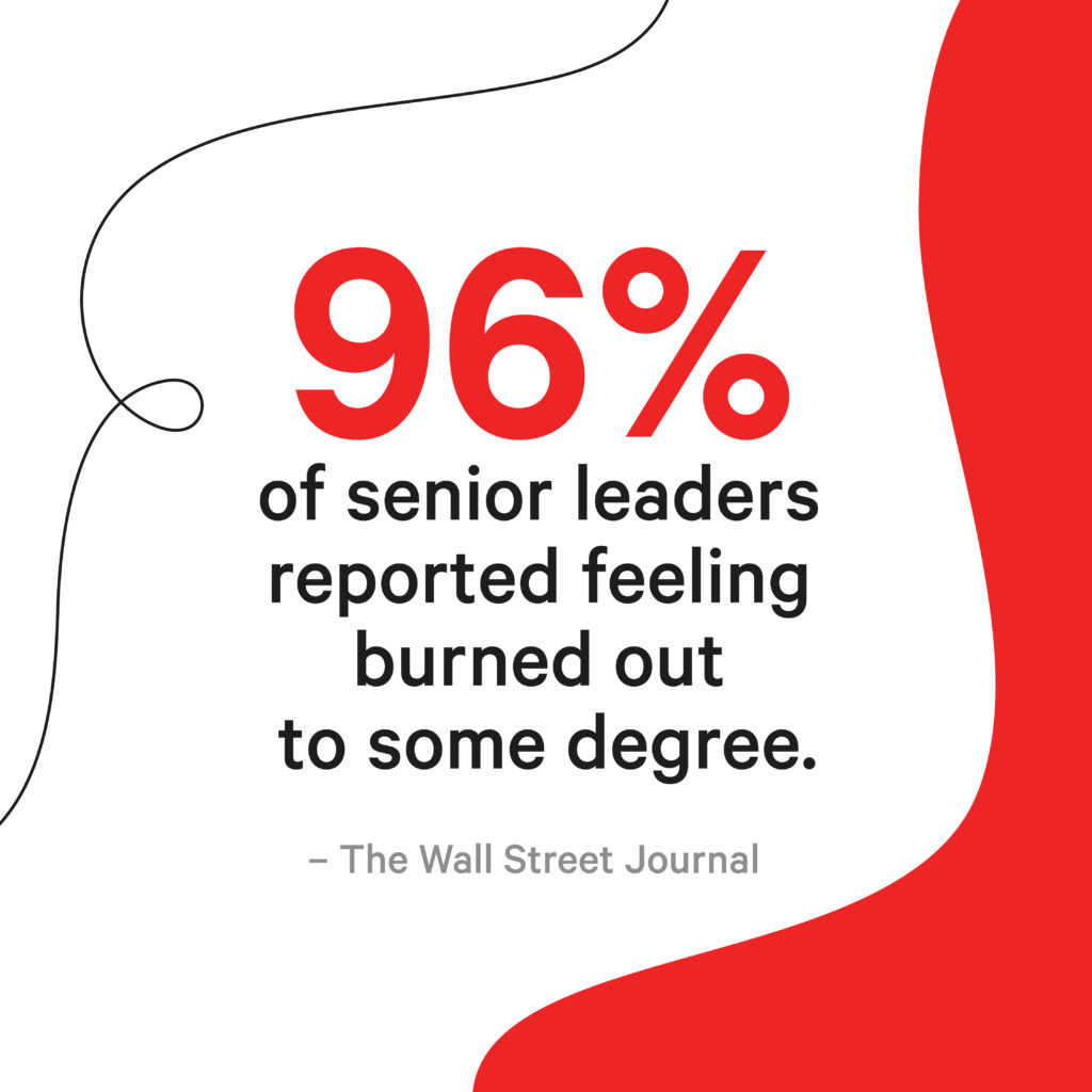 96% of senior leaders report feeling burned out to some degree.